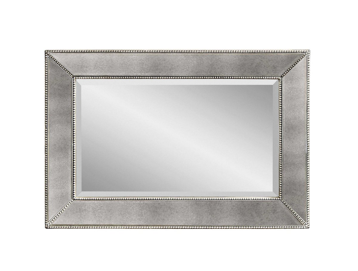 Beaded Wall Mirror Antique Mirror Finish M3341bec