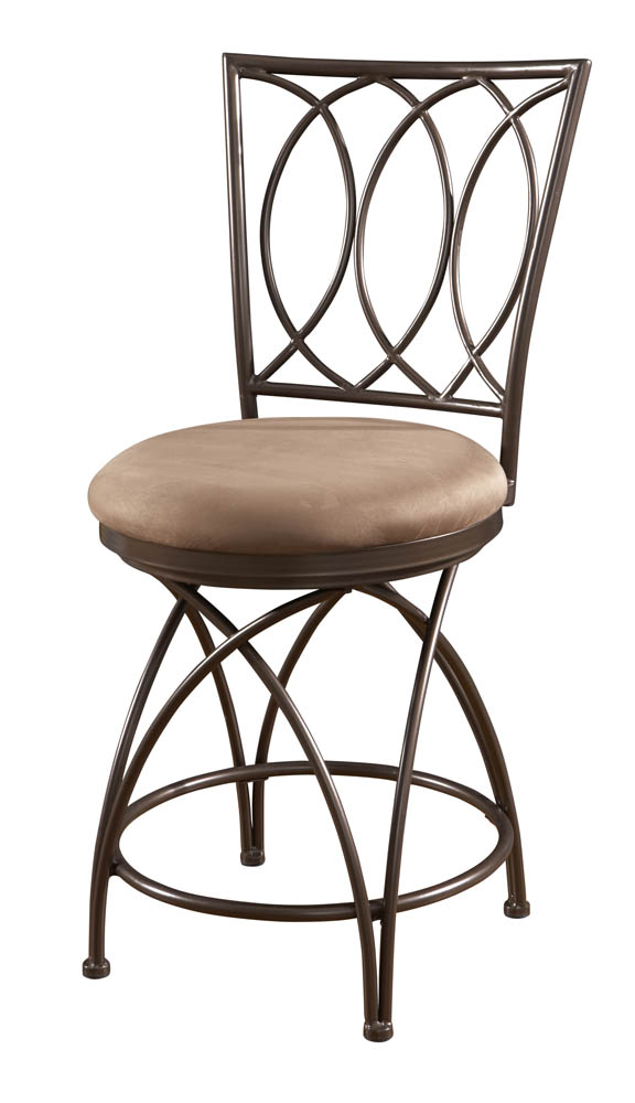 Big Amp Tall Metal Crossed Legs Counter Stool Bronze