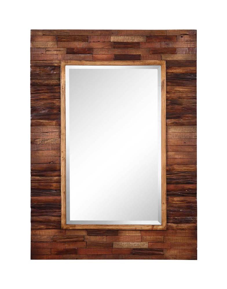 blakely mirror dark natural wood 30 x 42 4888 decor south. Black Bedroom Furniture Sets. Home Design Ideas