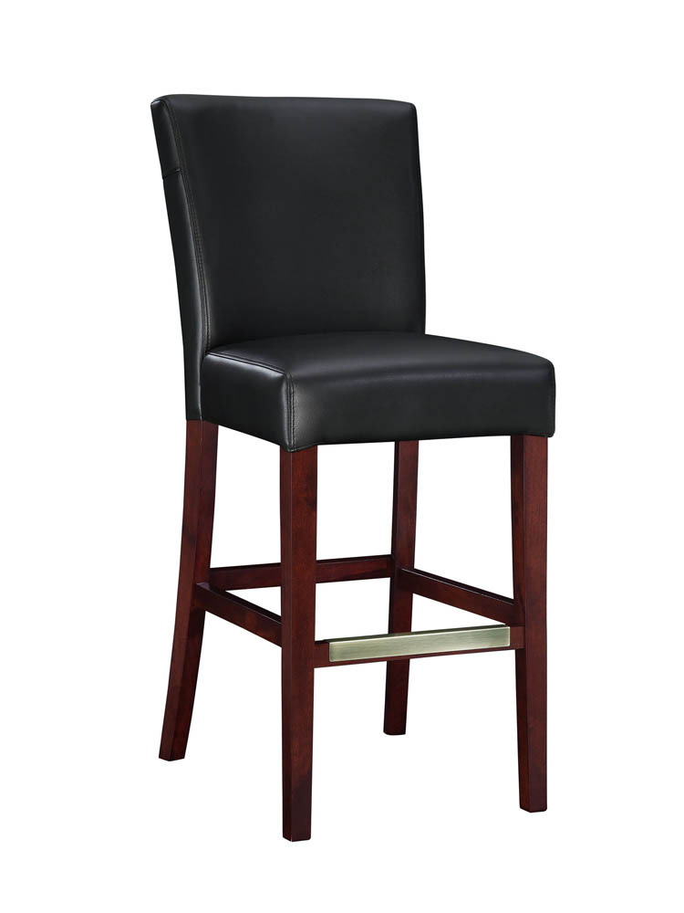Bonded Leather Bar Stool Black 273 847 Decor South