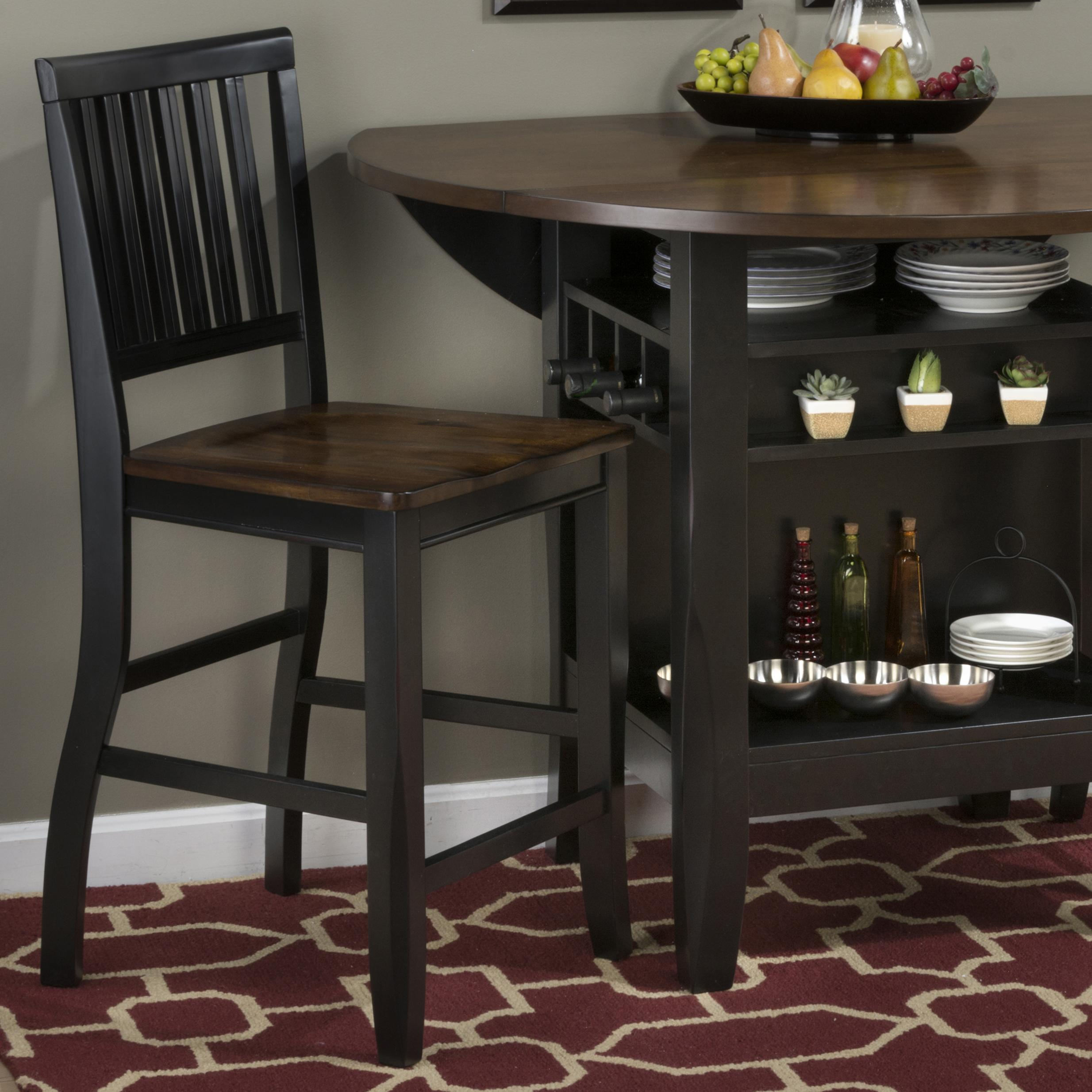 Braden Birch Counter Height Chair (Black)   Set Of 2   [272 BS219KD]