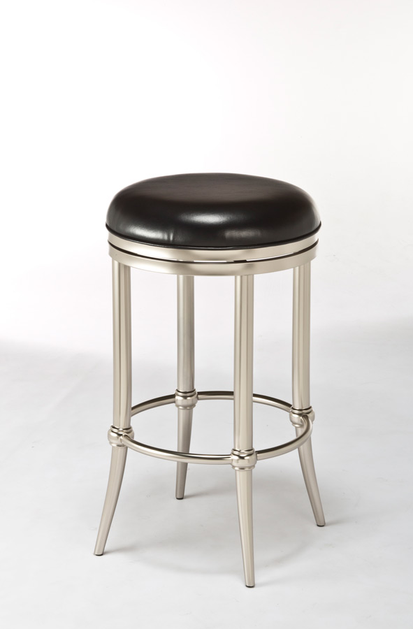 Cadman Backless Counter Stool Dull Nickel Finish 5173