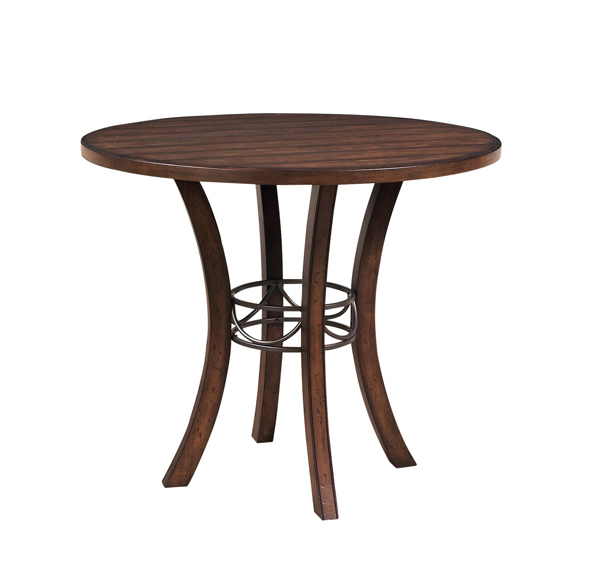 Counter Height Long Table : Cameron Counter Height Round Table (Chestnut Brown Finish) - [4671CTB ...