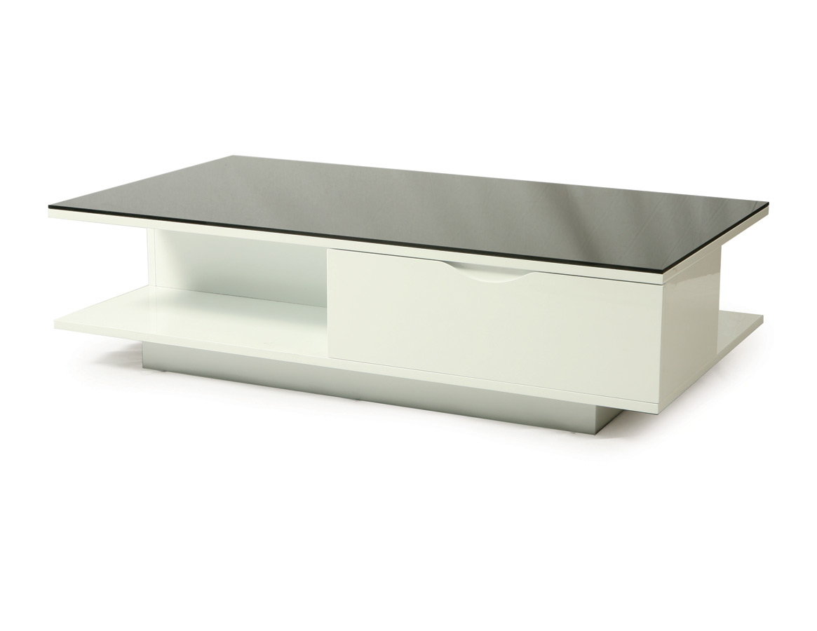 Coffee Table Black Glass White Lacquer Pictures to pin on Pinterest