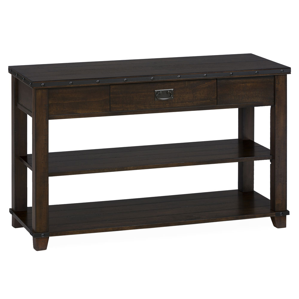Cassidy brown traditional plank top sofa table 561 4 decor south