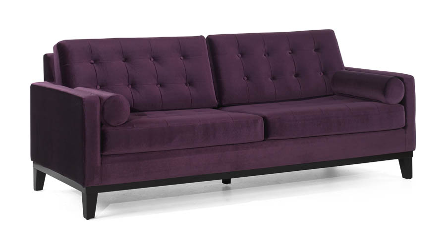 Centennial Sofa Purple Velvet Fabric Lc7253pu