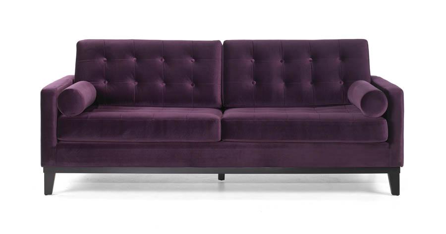 Centennial Sofa Purple Velvet Fabric Lc7253pu