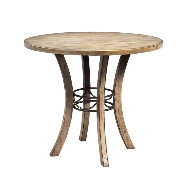 Charleston Counter Height Round Wood Dining Table Desert