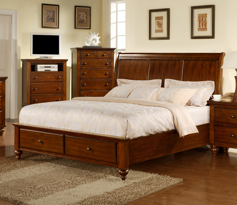 chatham storage bedroom set walnut finish ch777qb decor south