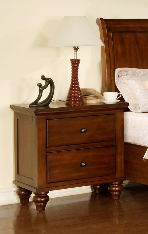 chatham storage bedroom set  walnut finish