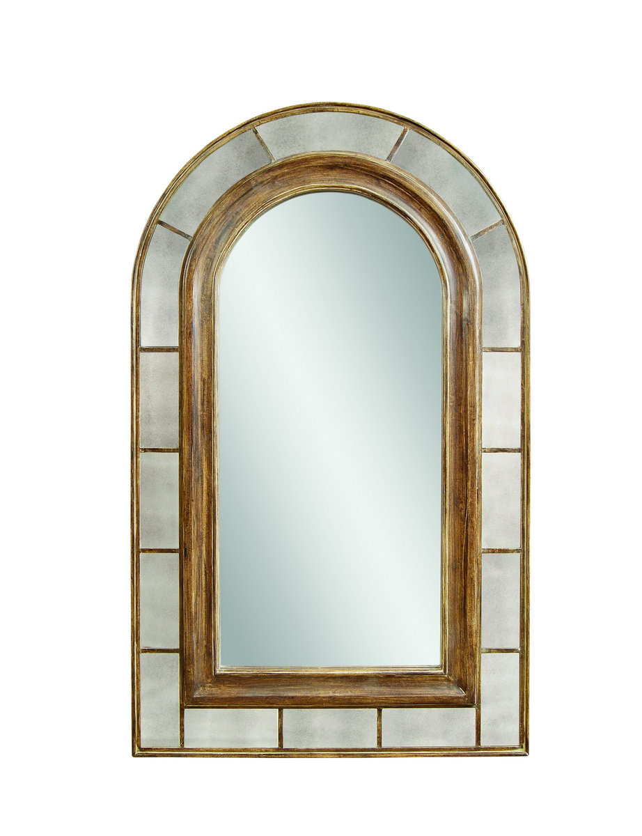 Clark Arched Leaner Mirror Rustic Bronze Finish