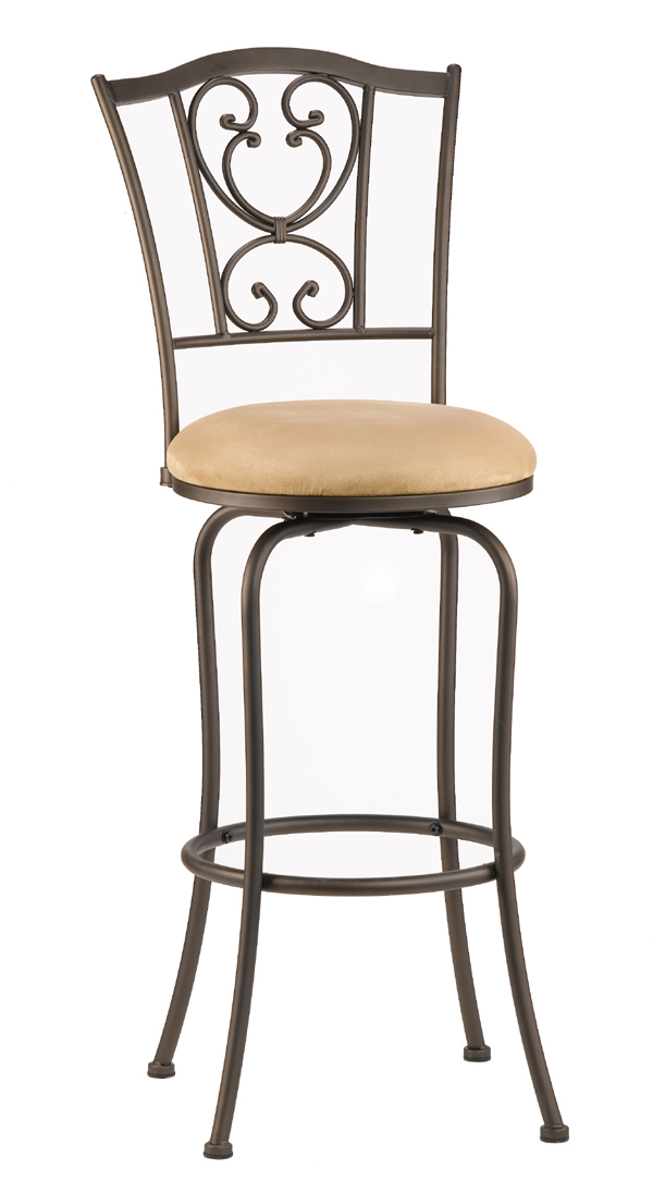 Concord Counter Stool (Brown Finish) - [4120-821] : Decor South