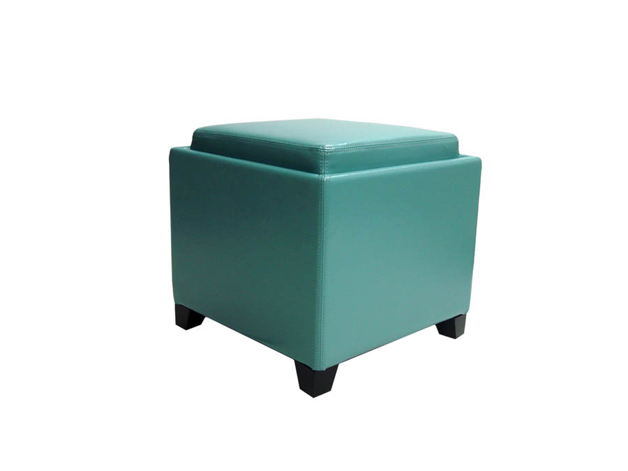 Contemporary Storage Ottoman With Tray (Sky Blue)   [LC530OTLESB]