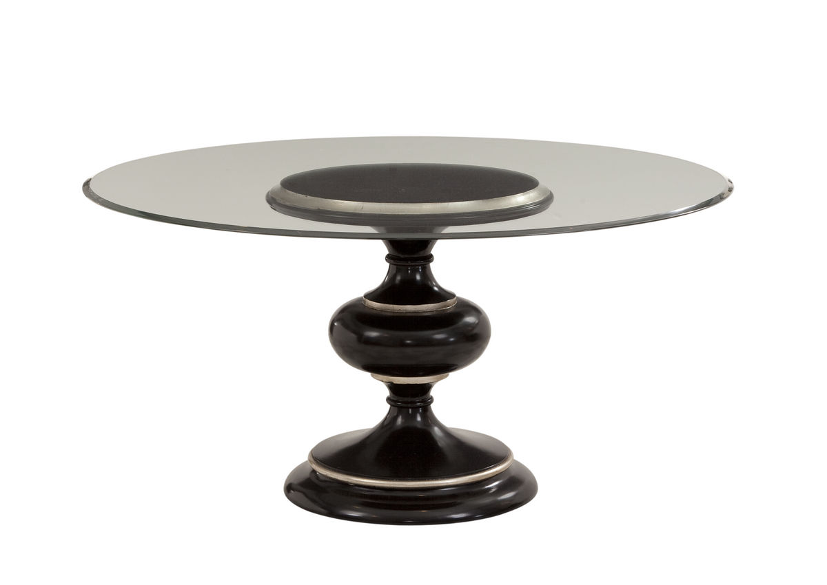 Glass top round dining table Round glass table top