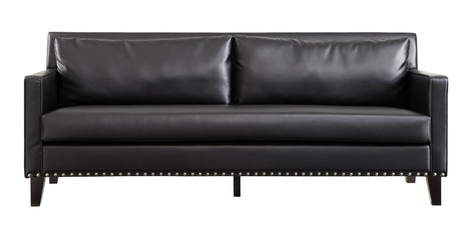 Delicieux Dallas Sofa (Black Leather U0026 Real Cowhide)   [LC21453BL]