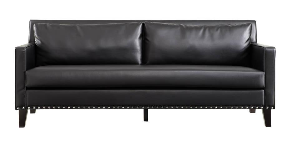 Dallas Sofa Black Leather Amp Real Cowhide Lc21453bl