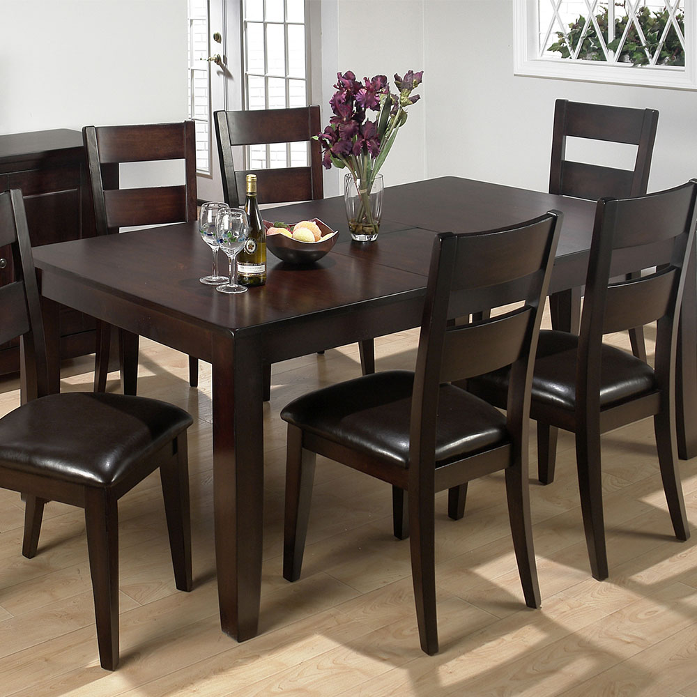 Dark Rustic Prairie Butterfly Leaf Dining Table - [972-77] : Decor South