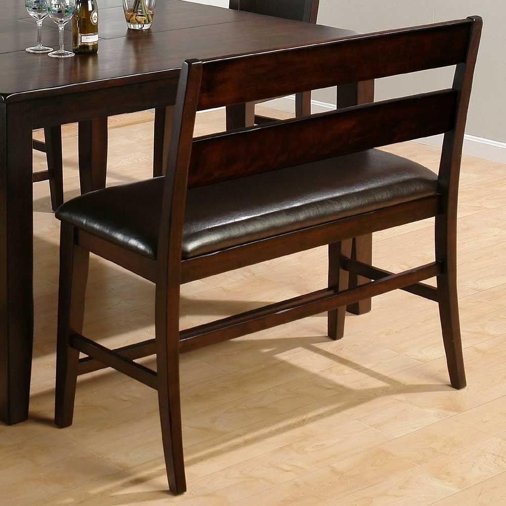 Counter Height Dining Bench : Dark Rustic Prairie Counter Height Dining Bench - [972-BS20KD] : Decor ...