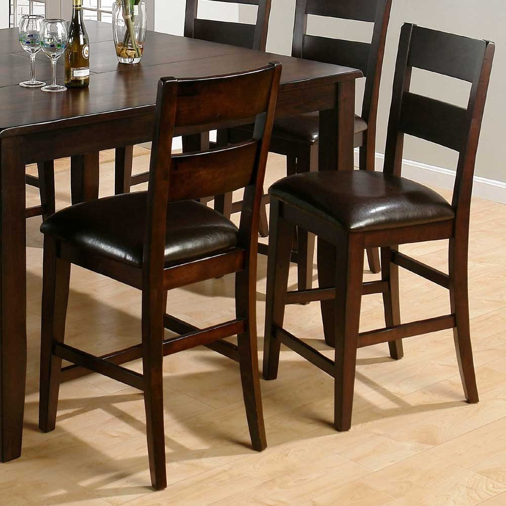 Counter Height Rustic Dining Sets : Dark Rustic Prairie Counter Height One Rung Ladderback Dining Side ...