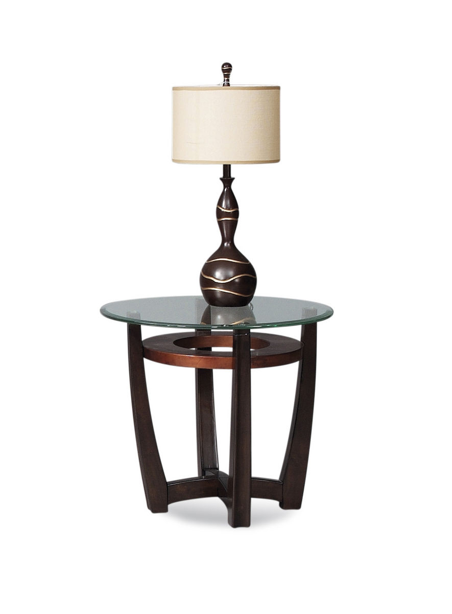 Elation Round End Table (Copper Ring Finish)   [T1078 220 076EC]