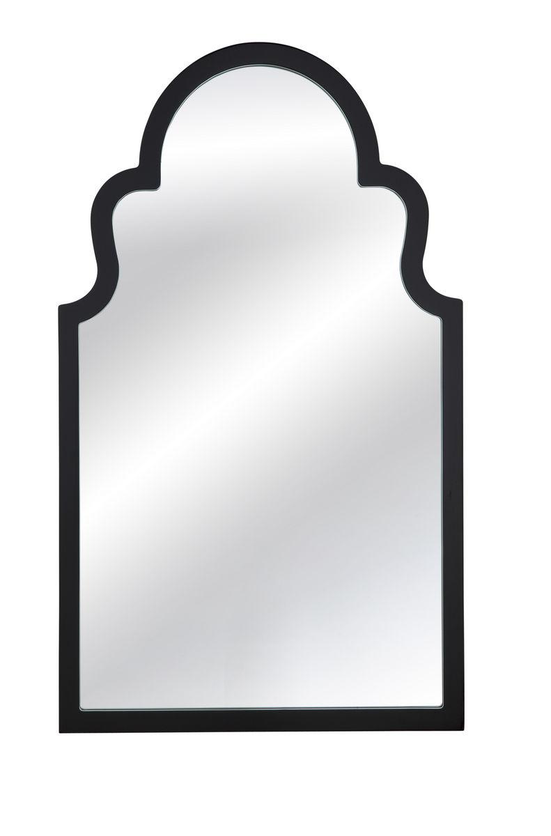Elberta Wall Mirror Black Lacquer 24 X 40h M3665ec Decor South
