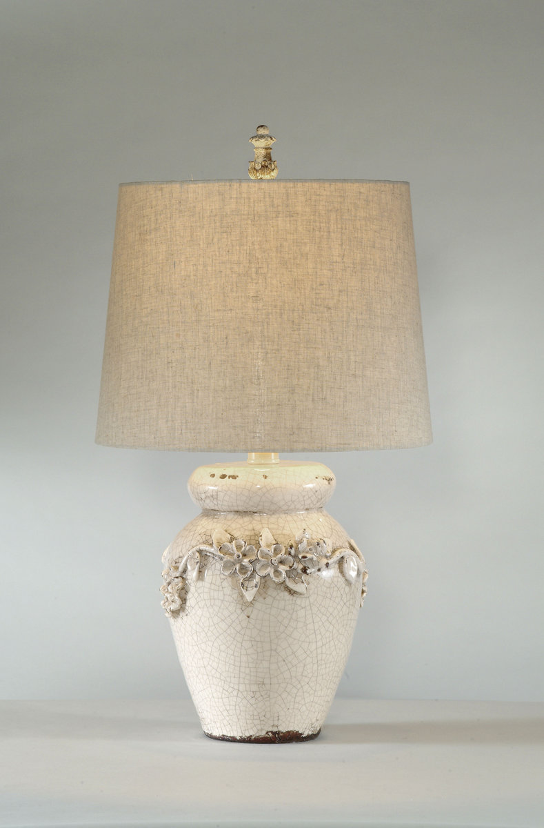 eleanore table lamp crackled ivory ceramic finish l2321tec