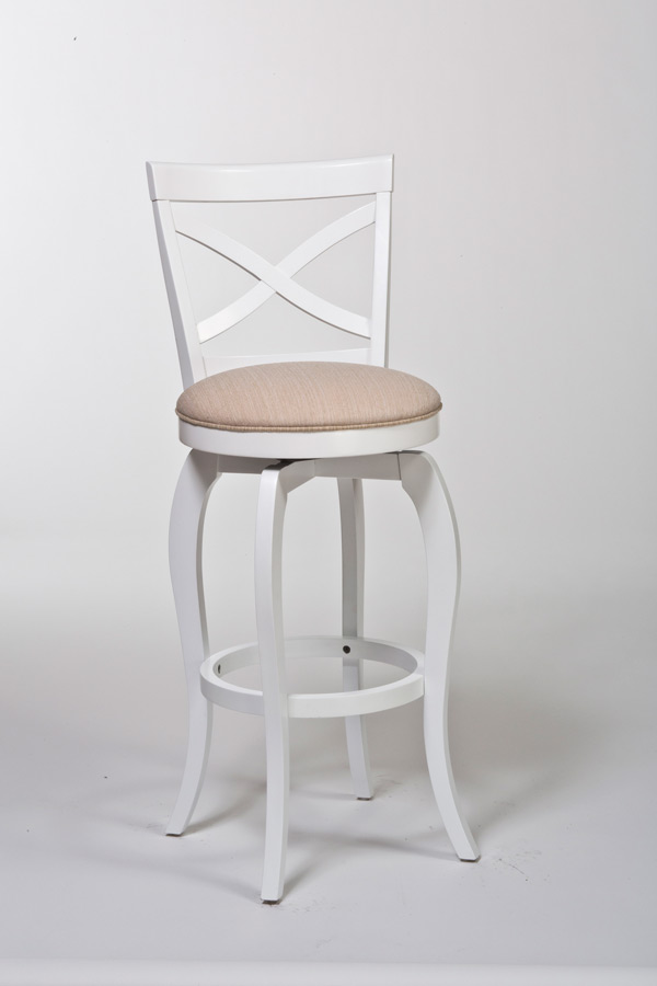 Ellendale Swivel Counter Stool White Amp Beige Finish