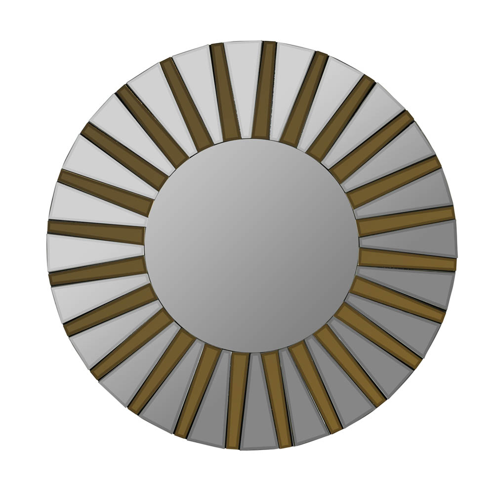 Emele Mirror Aged Gold 36 Quot Round 40574 Decor South