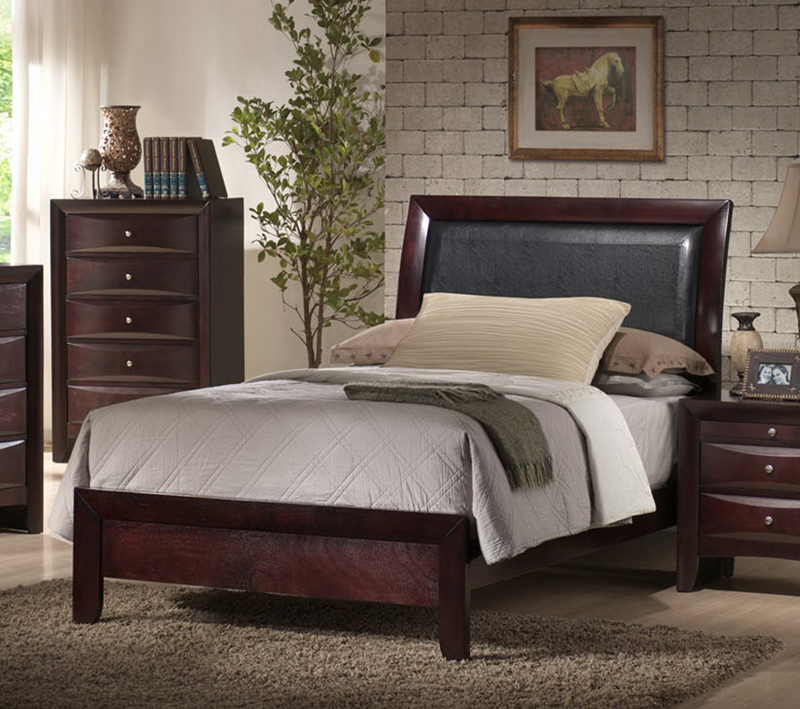 emily sleigh bedroom set rich espresso finish em200tb 11508 | emily sleigh bedroom set rich espresso 2