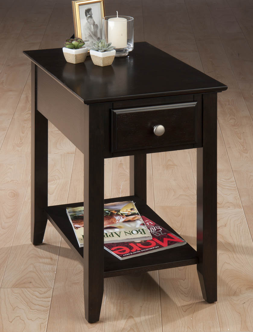 Espresso Chairside End Table 1037 7 Decor South