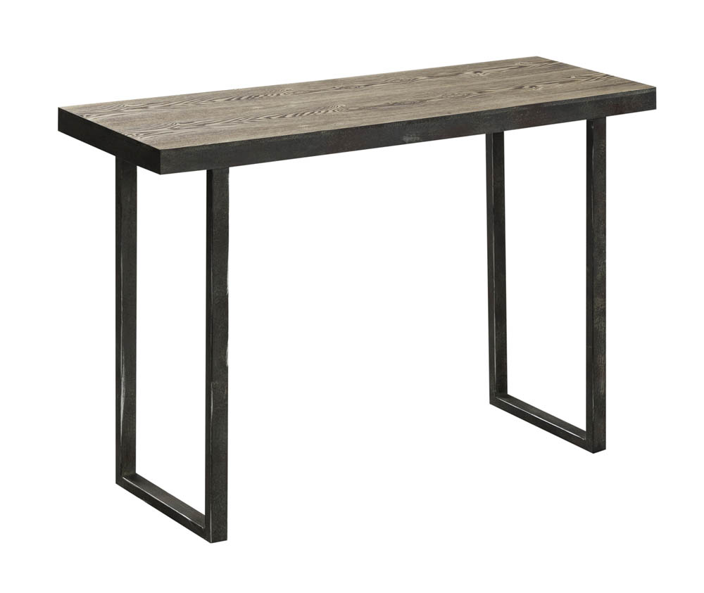 Fallon Console Table Distressed Wood Amp Metal 6222