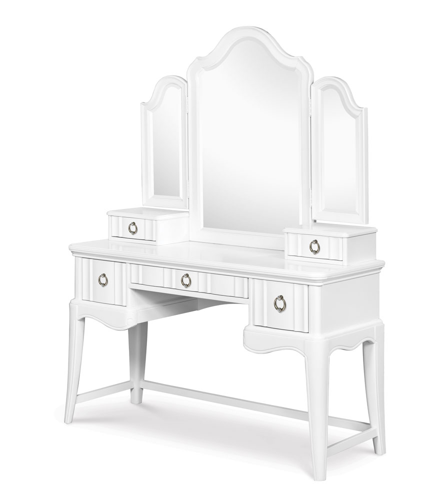 gabrielle desk with vanity mirror snow white decor south