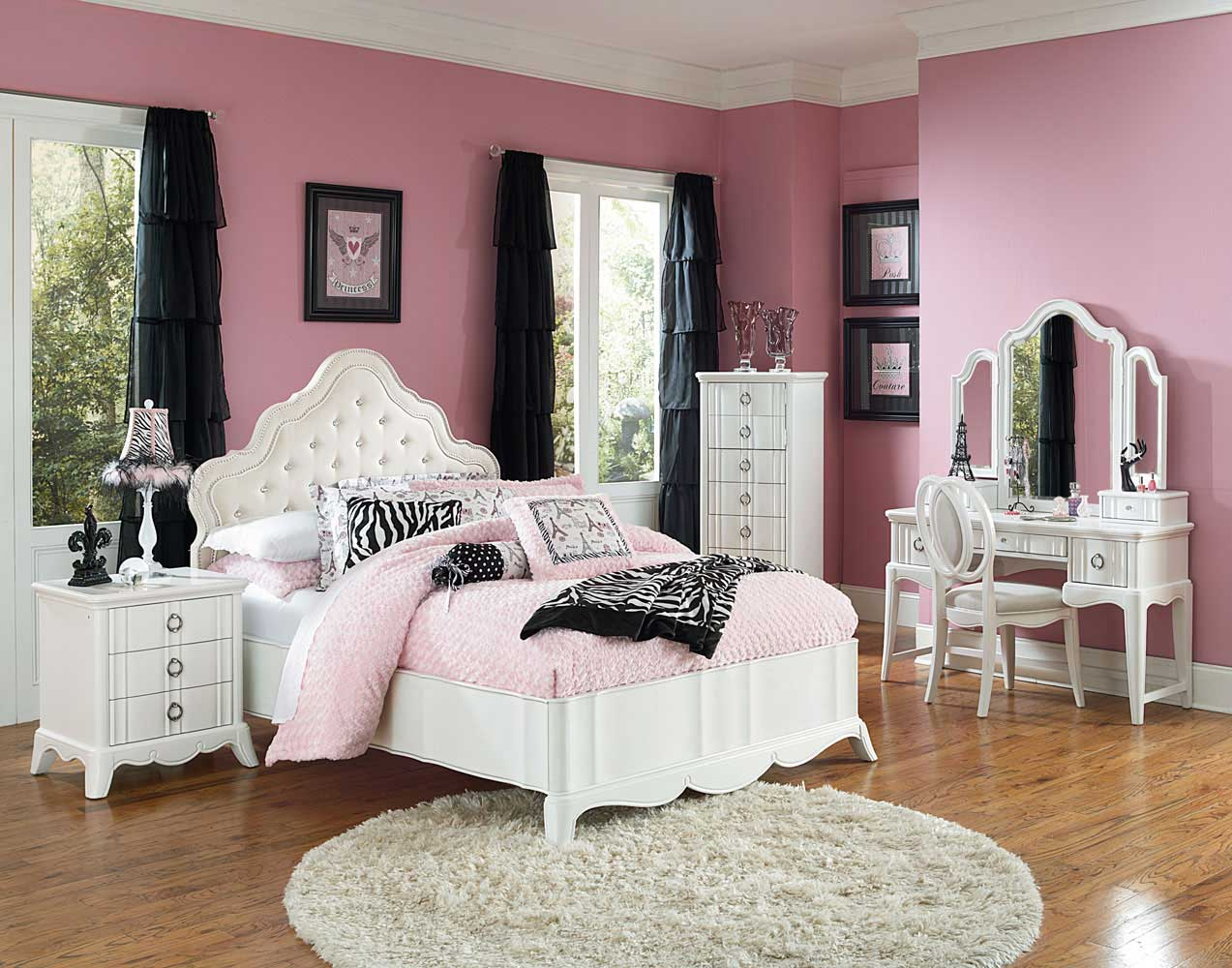 gabrielle island upholstered bedroom set snow white decor south
