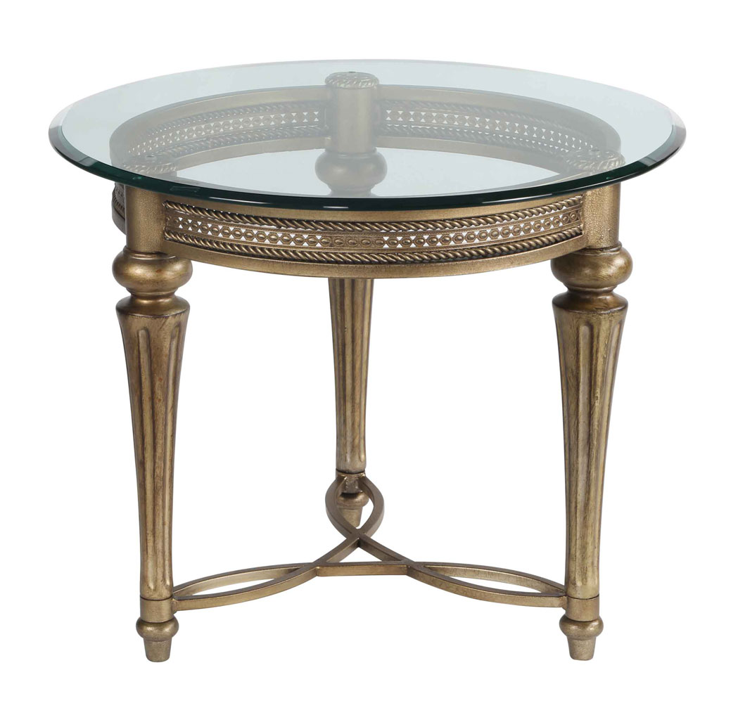 Contemporary round end tables for Round gold side table