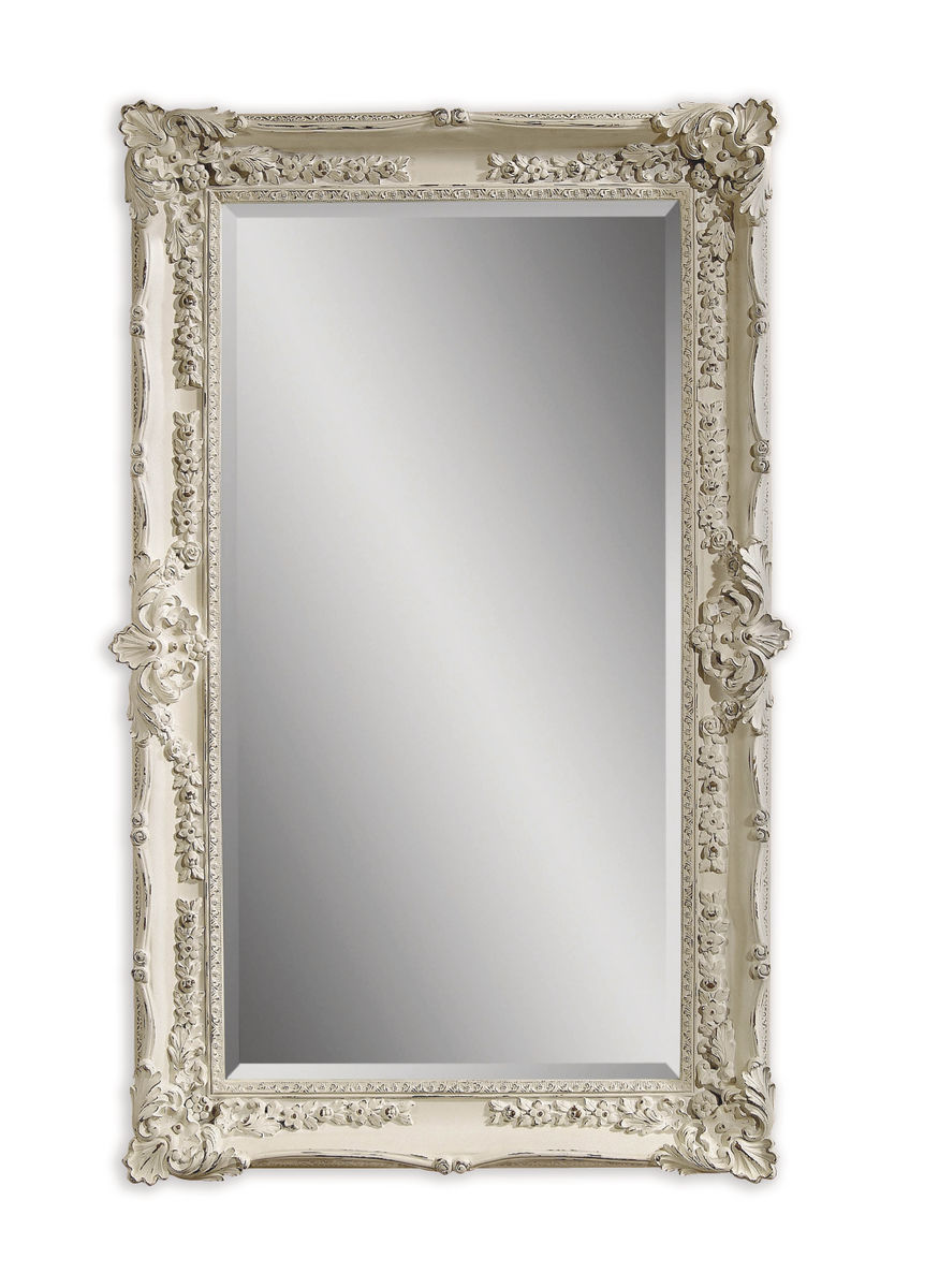 garland wall mirror antique white finish m2935bec