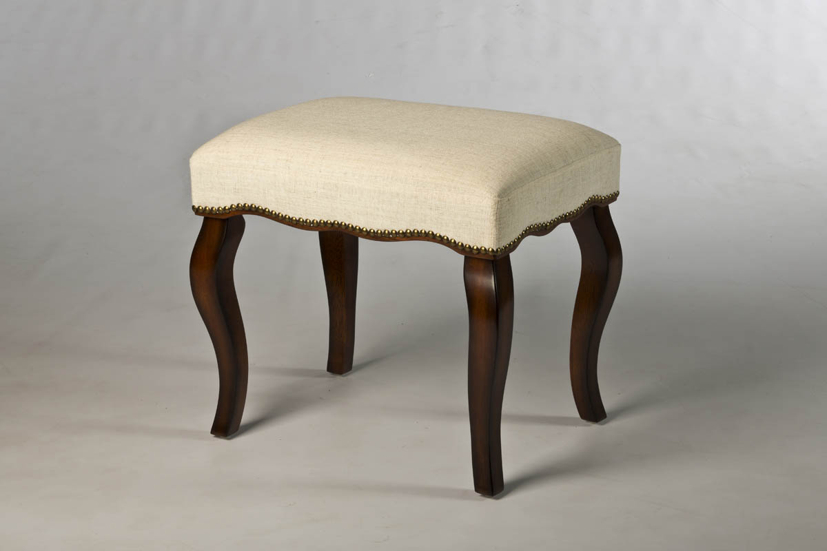 Hamilton Backless Vanity Stool With Nailhead Trim