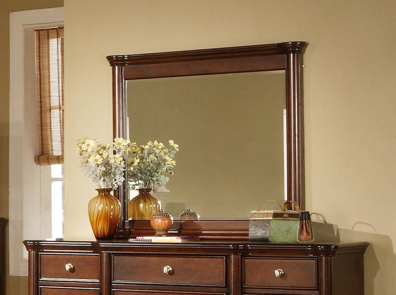 Hamilton Dresser Mirror Dark Cherry Finish Hm100mr