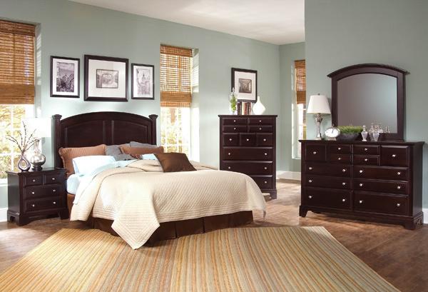 Hamilton Franklin Storage Panel Bedroom Set Merlot Finish Decor South