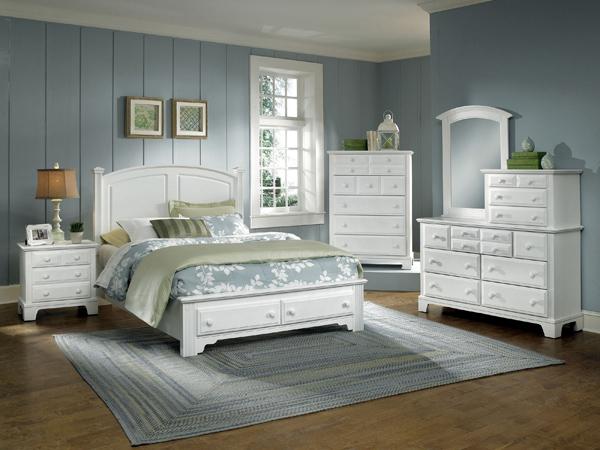 Hamilton Franklin Storage Panel Bedroom Set Snow White Finish Decor South