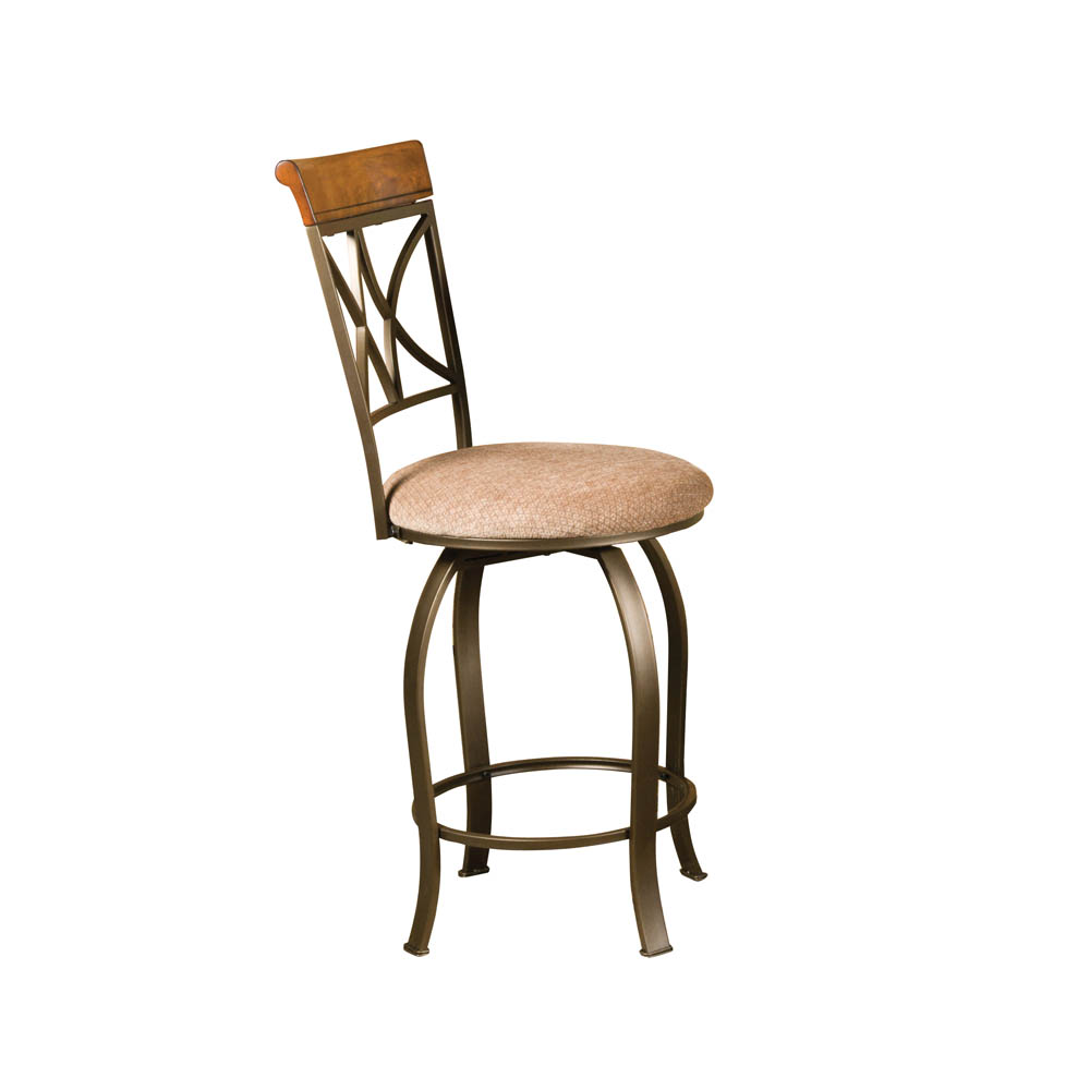 Hamilton Swivel Counter Stool Matte Pewter Amp Bronze