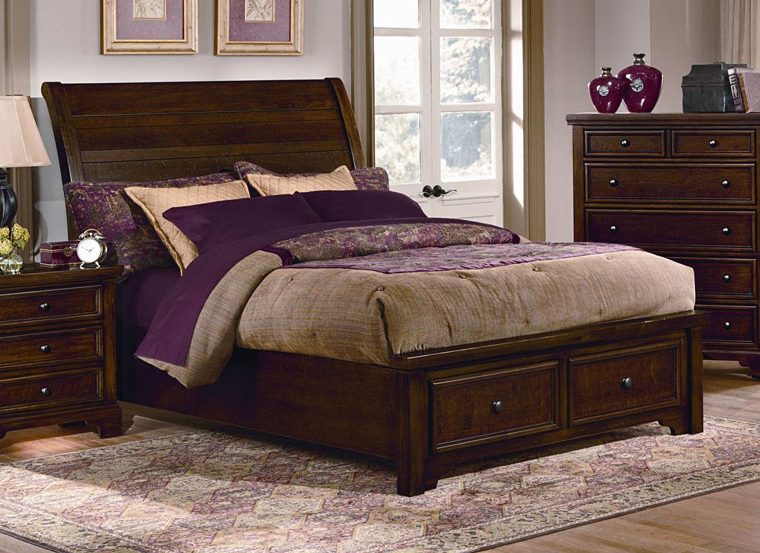 Cherry Sleigh Bedroom Set Pictures To Pin On Pinterest Pinsdaddy