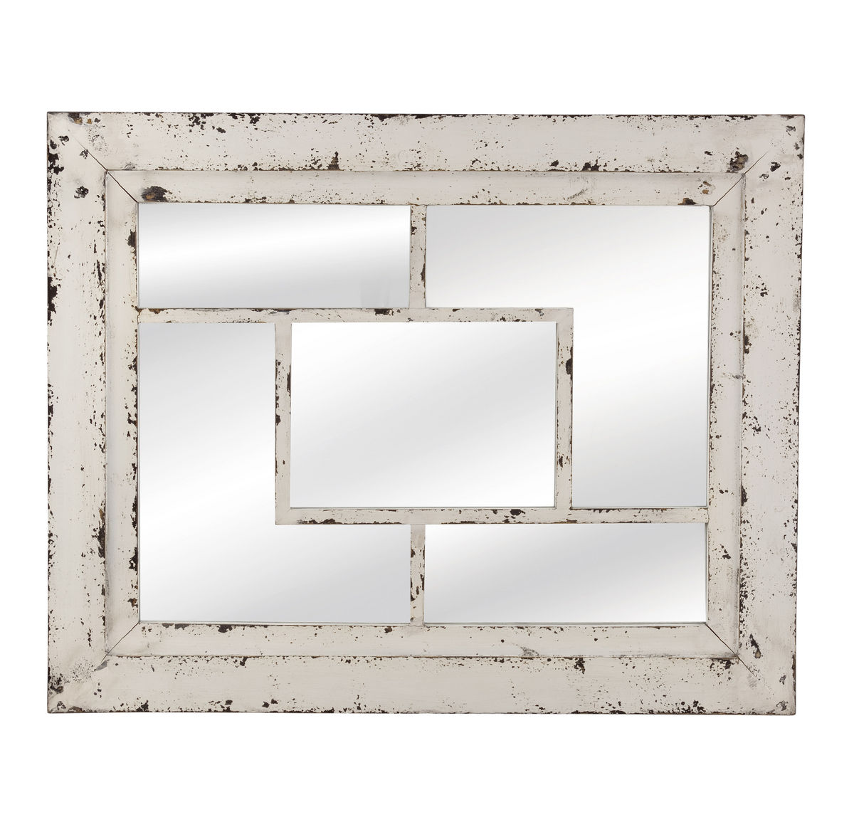 rustic wall mirrors farmhouse harper wall mirror rustic white 32 40h m3643ec decor south