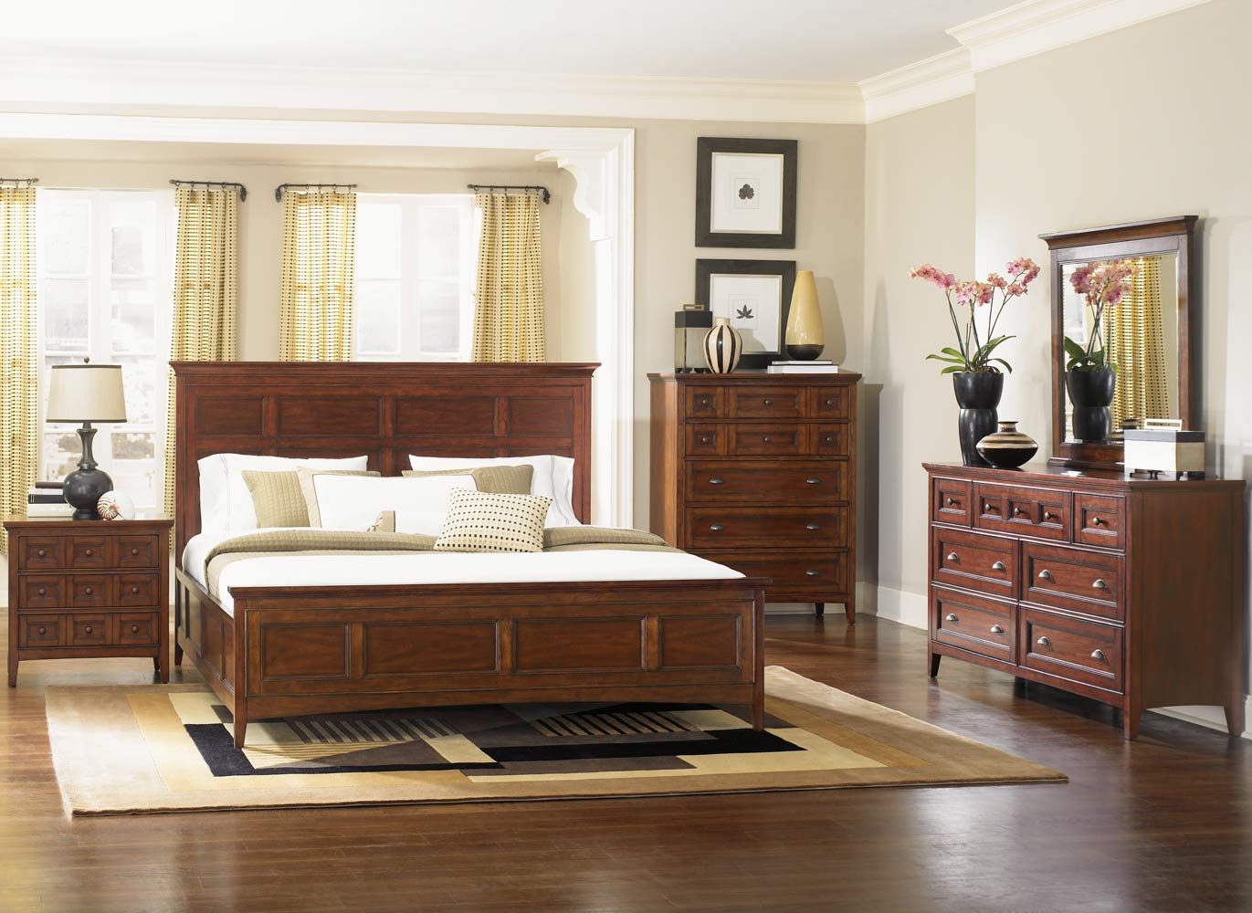 Harrison Bedroom Set Cherry Decor South