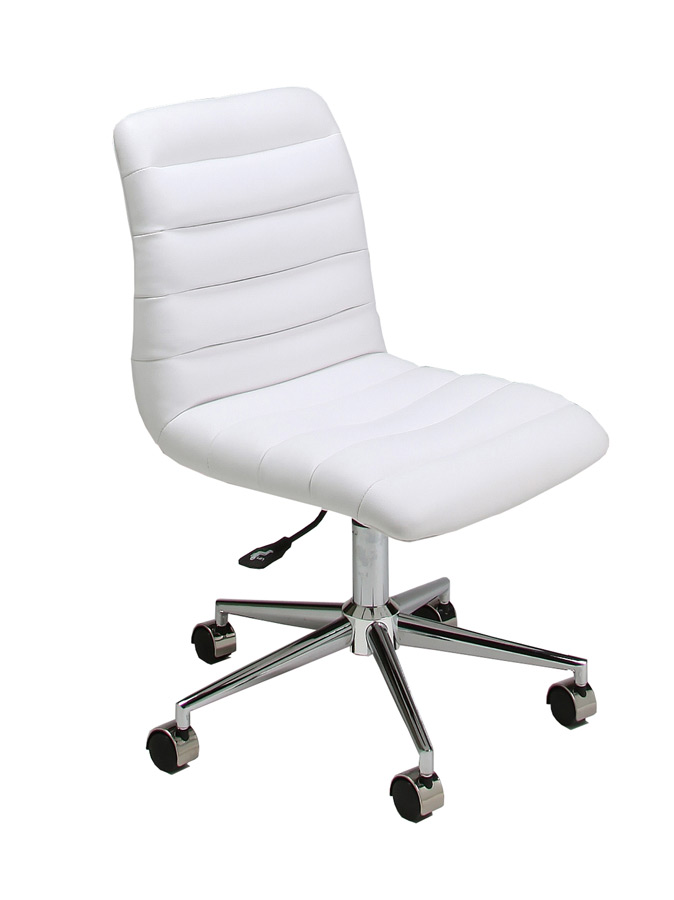 Hawthorne Office Chair Chrome Aluminum Ivory Finish Hw 164 Ch 978