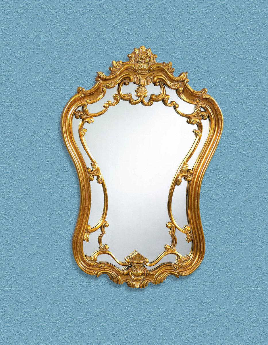 Koi Wall Décor In Gold Leaf : Hermosa wall mirror gold leaf finish m ec decor