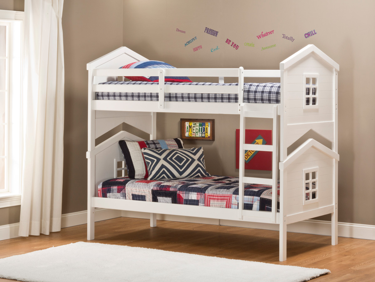 Bunk Bed with House 1198 x 900