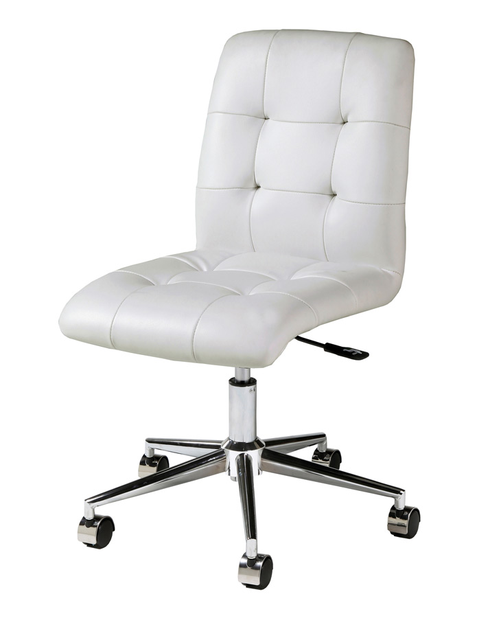 Hoquiam Office Chair (Chrome, Aluminum U0026 Ivory Finish)   [HQ 164 CH 978]