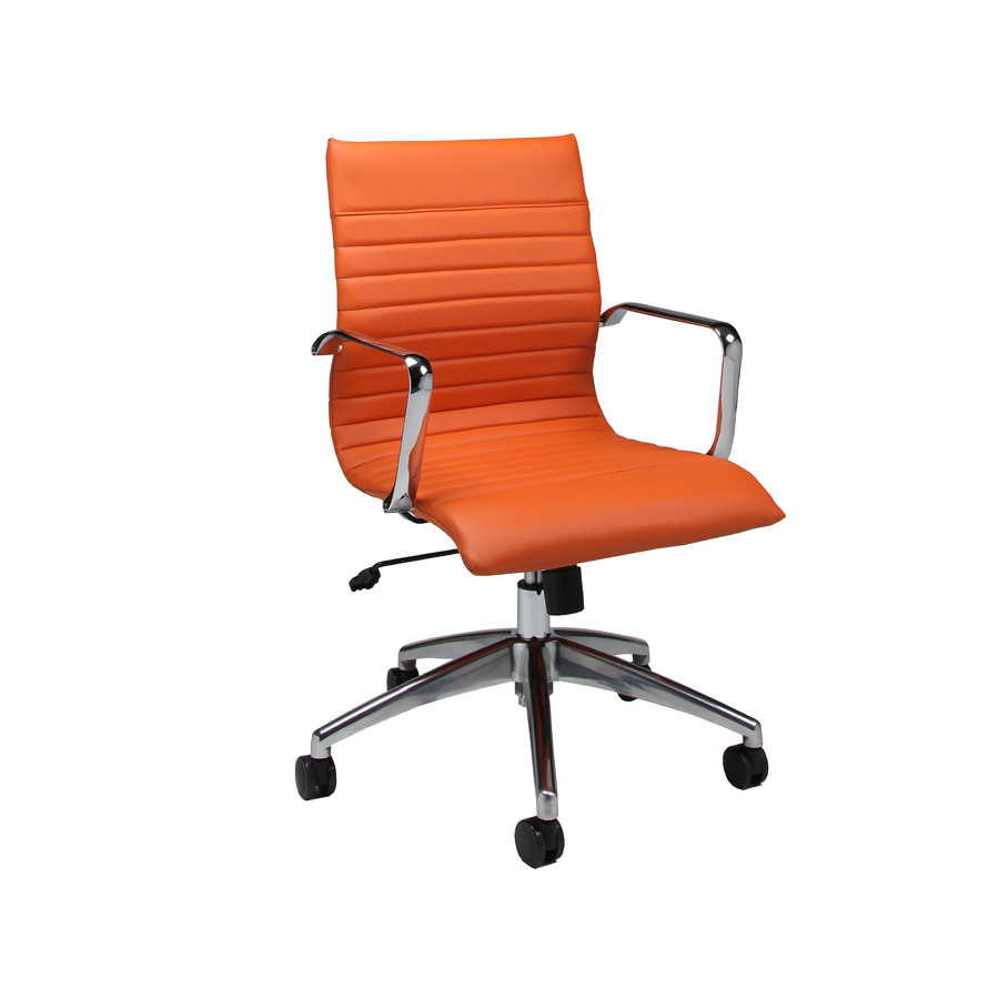 Janette Office Chair (Chrome, Aluminum & Orange Finish) - [JN-164-CH ...: www.decorsouth.com/listing/janette-office-chair-chrome-aluminum-orange