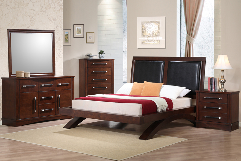 java bedroom set dark cherry finish jv622fb decor south