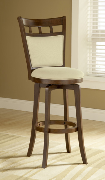Jefferson Swivel Bar Stool Brown Cherry Finish 4975